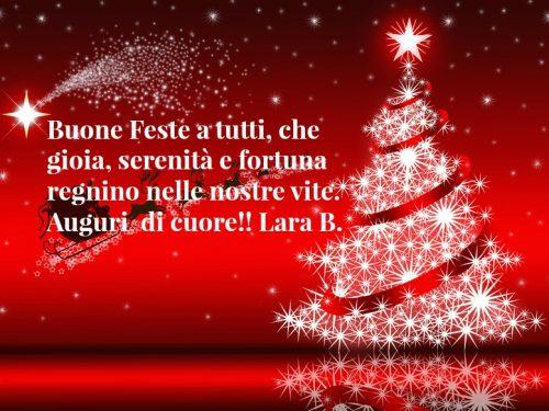 Auguri di buone feste a tutti i visitatori da Felici Pensieri di Lara Bellotti