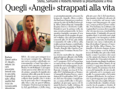 """Comunicato – Presentazione libro """"Angeli"""""""